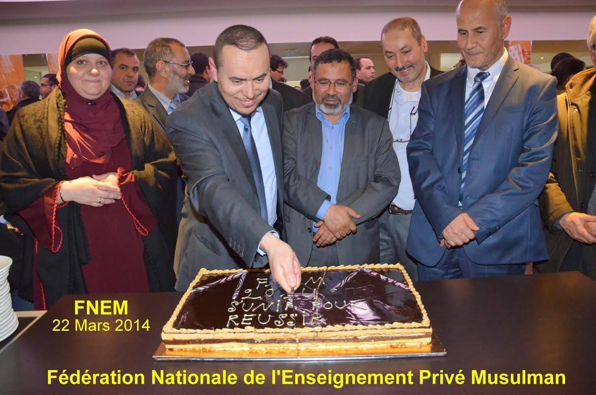 Les cinq directeurs d'établissements privés et membres fondateurs de la FNEM
